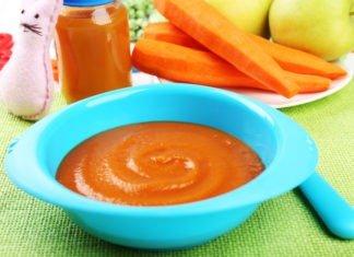Яблочно-морковное пюре с курагой для грудничка