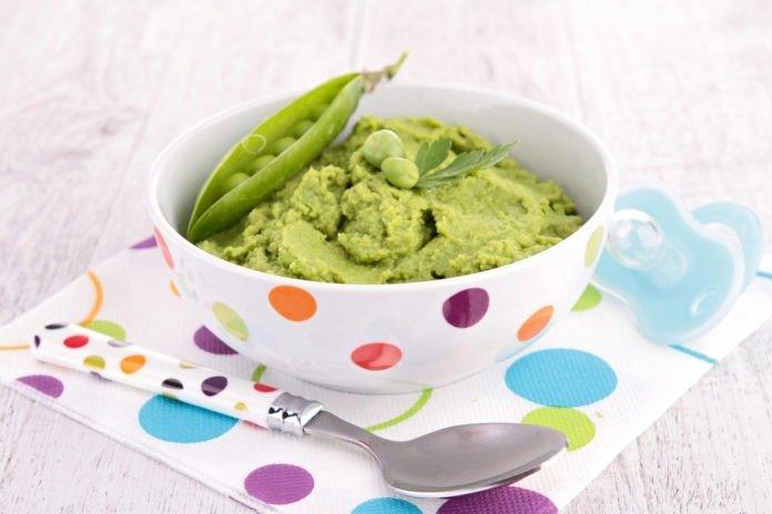 Пюре из зеленого горошка для грудничка