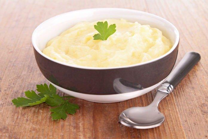 Пюре из картофеля со шпинатом