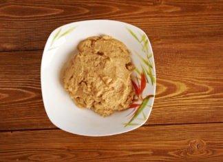 Пюре из куриной печени с кабачком