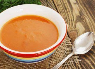 Суп-пюре из моркови и риса