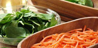 Суп-пюре из моркови и шпината