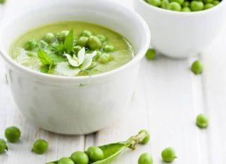 Суп-пюре из зеленого горошка с рисом